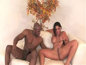 Busty Latina Takes Black Cock