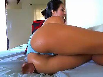 Big Booty Latina Toys Ass & Clit On Cam
