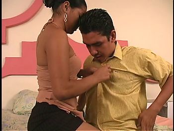 Mailman gets lucky & deposits cum in a latina's slot