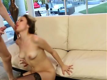Gets sex and swallows cum