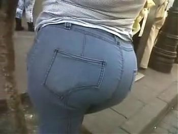 Juicy mexican ass showing off