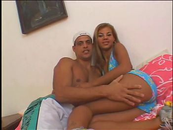 Delicious blonde Latina fucks and sucks a Latino stud