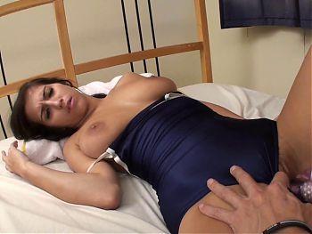 AMWF SEXY BRUNETTE APRIL LATINA FUCKS ASIAN MAN